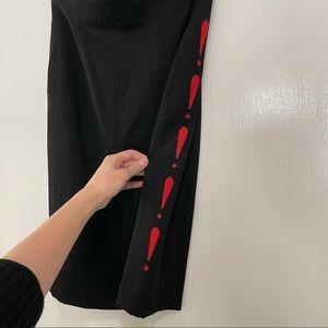 Escada Black Wool Pencil Skirt 36 Small